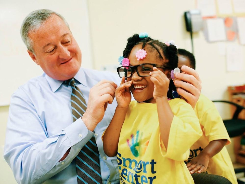 Mayor Kenney and glasses